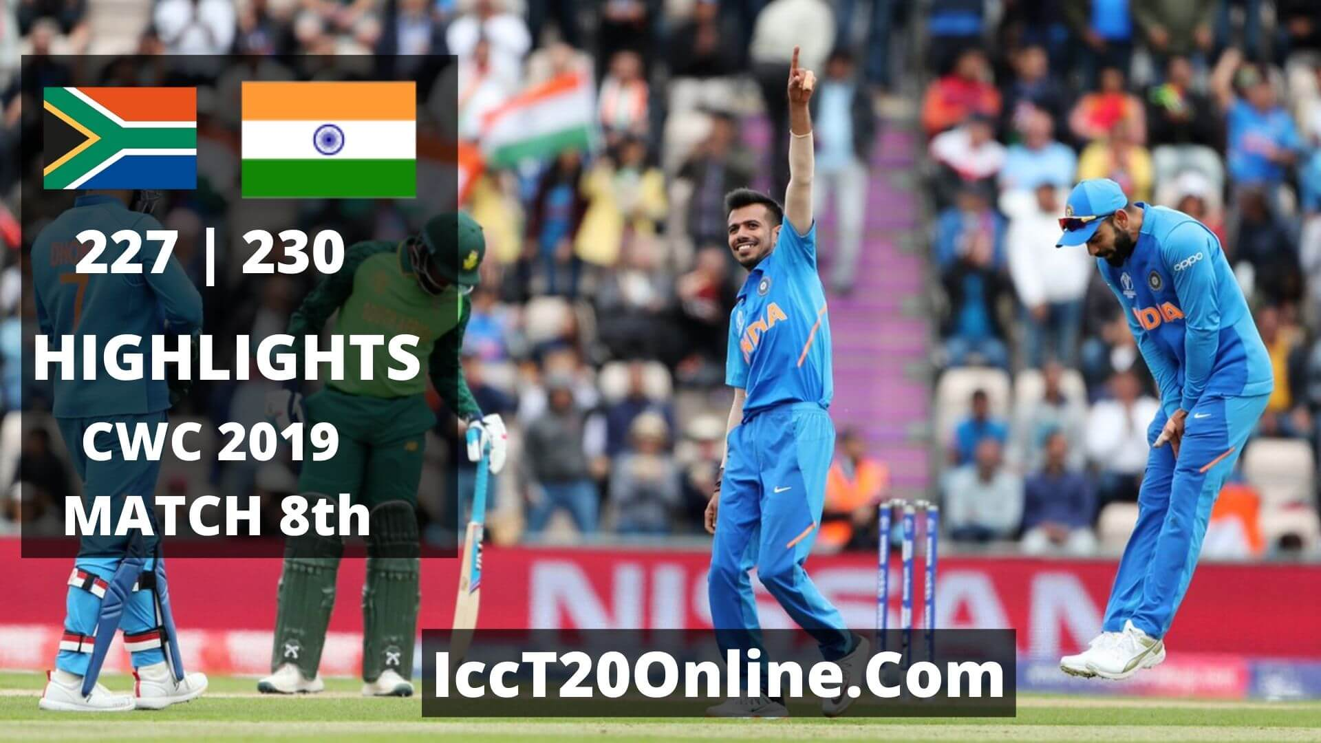 South Africa vs India Highlights CWC 2019 Match 8th