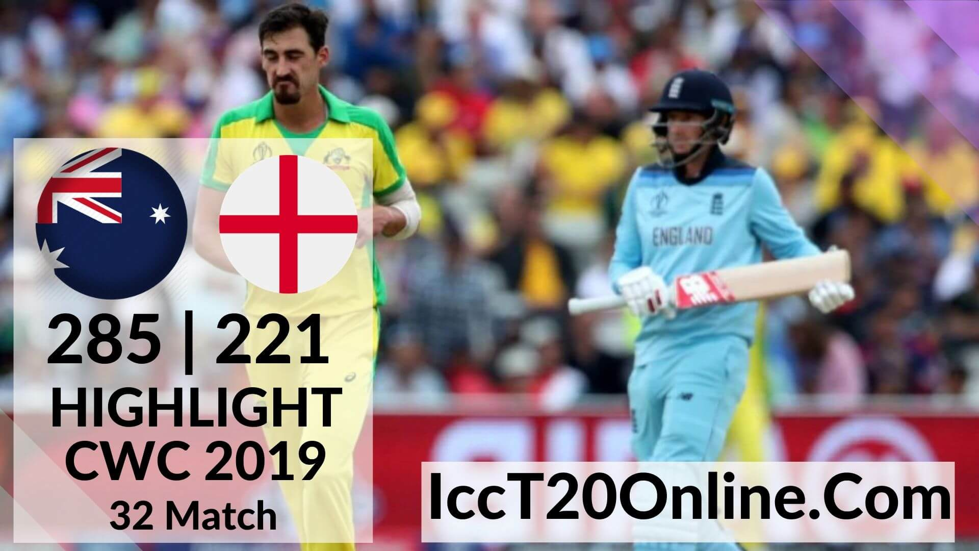 Australia Vs England Highlights CWC 2019