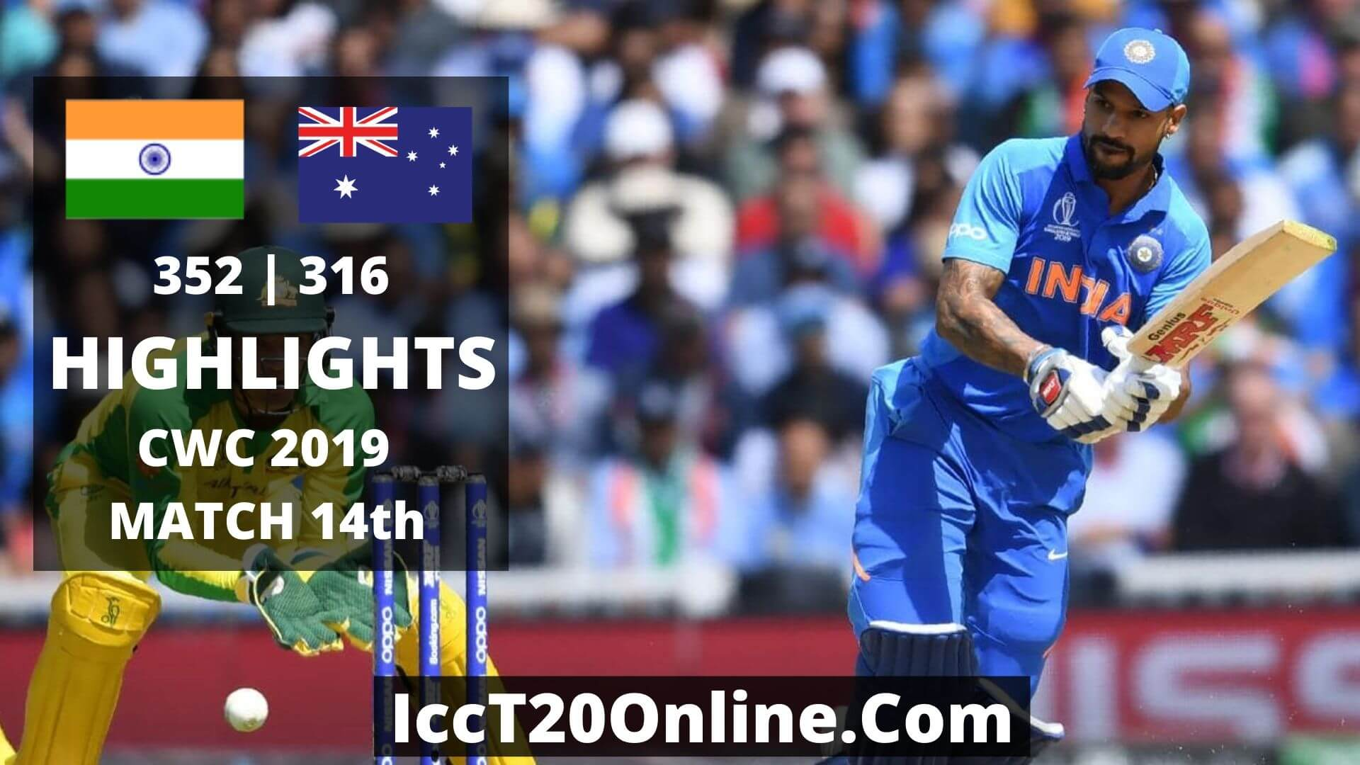 India vs Australia Highlights CWC 2019 Match 14th
